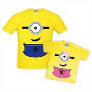 Kit Camisetas Minions Pai e Filho(a)