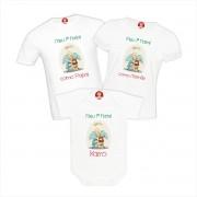 Kit Camisetas Natal Cristão Primeiro Natal Presépio