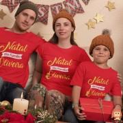Kit Camisetas Natal em Família 3pc