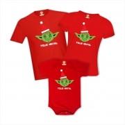 Kit Camisetas Natal em Família Mestre Yoda