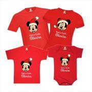 Kit Camisetas Natal em Família Mickey e Minnie Disney