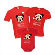 Kit Camisetas Natal em Família - Minnie Disney