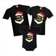 Kit Camisetas Natal em Família Noel
