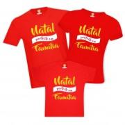 Kit Camisetas Natal Perfeito em Família