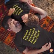 Kit Camisetas Pai e Filho Amigo, Parceiro, Camarada, Exemplo