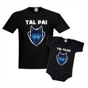 Kit Camisetas Pai e Filho Lobo