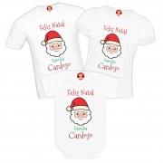Kit Camisetas Papai Noel para Família com Sobrenome