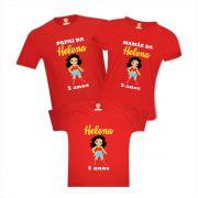 kit Camisetas Personalizadas Festa Mulher Maravilha