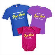 Kit Camisetas Primeiro Ano Novo em Família (menina)