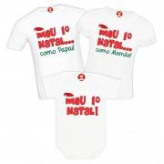 Kit Camisetas Primeiro Natal Noel Personalizadas