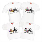 Kit Camisetas Viagem Disney Magic Kingdom, Epcot, Hollywood Studios e Animal Kingdom