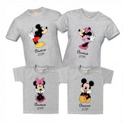 Kit Camisetas Viagem Disney Mickey e Minnie