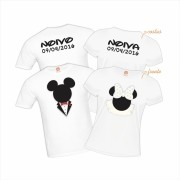 Kit Casal Mickey e Minnie Noivos