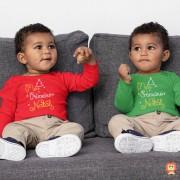 Kit com 2 Bodys de Natal para Gêmeos