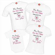 Kit com 4 Peças Primeiro Dia das Mães Como Mamãe Vovó Bebê