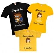 Camisetas de Aniversário Bela e a Fera
