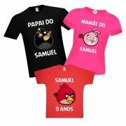 Camisetas de Aniversário Angry Birds