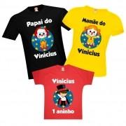 Camisetas de Aniversário Tema Circo