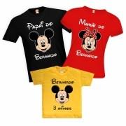 Camisetas de Aniversário Mickey Mouse