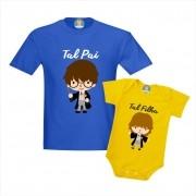 Camisetas Tal Pai Tal Filha Harry Potter e Hermione