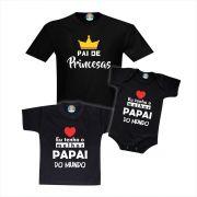 Kit Pai de Princesas e Filhas Melhor Papai do Mundo