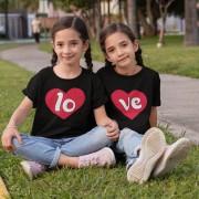 Kit Roupinhas Camisetas LOVE Irmãos Gêmeos