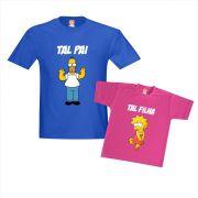 Kit  Simpsons Papai Homer e Filha Lisa