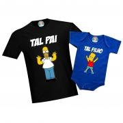Kit Tal pai Tal Filho(a) Os Simpsons Bart ou Meg Dia dos Pais