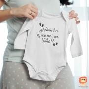 Roupinha de Bebê Adivinha Quem Vai Ser Vovó? Anuncio de Gravidez