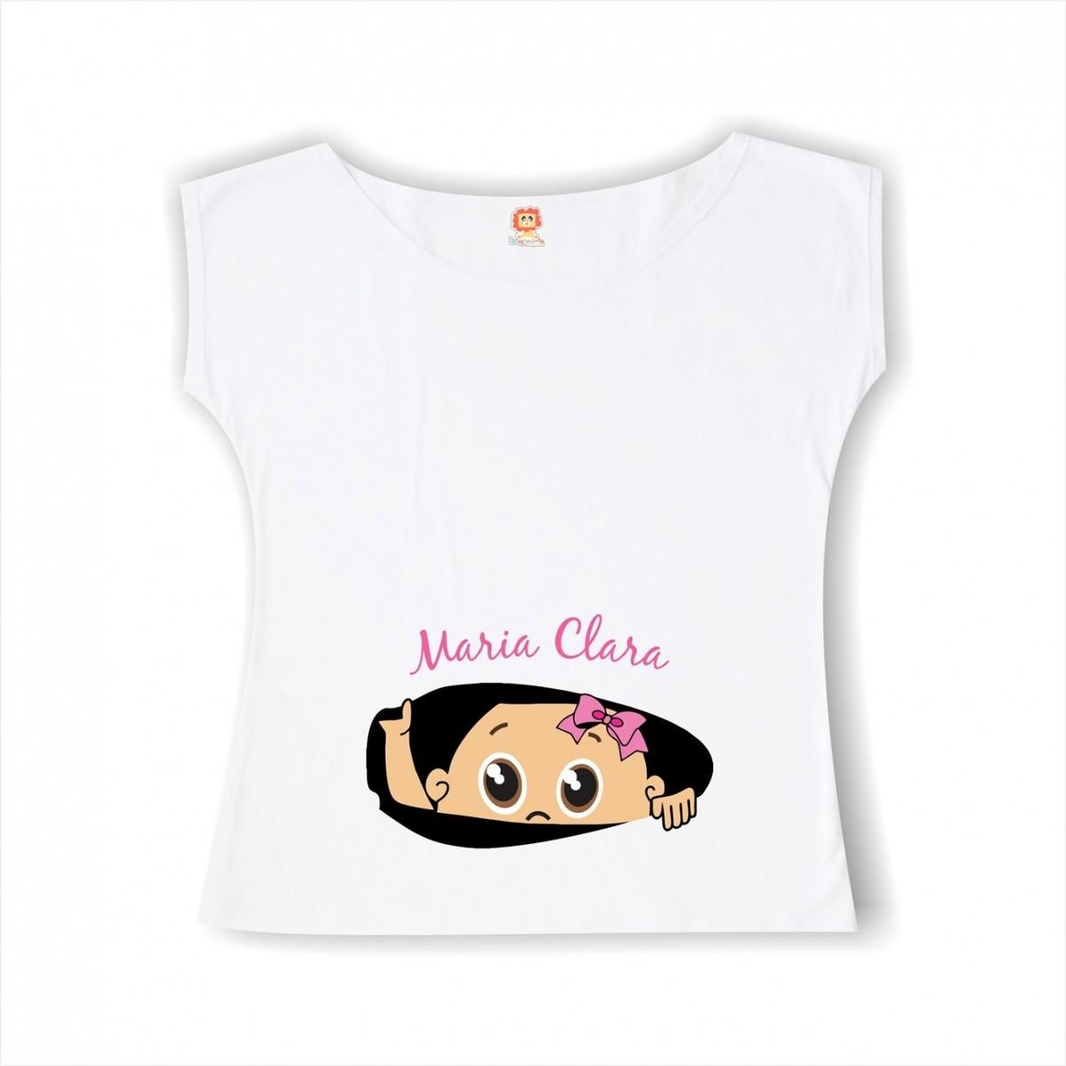 Bata ou Camiseta Bebê Espiando Menina