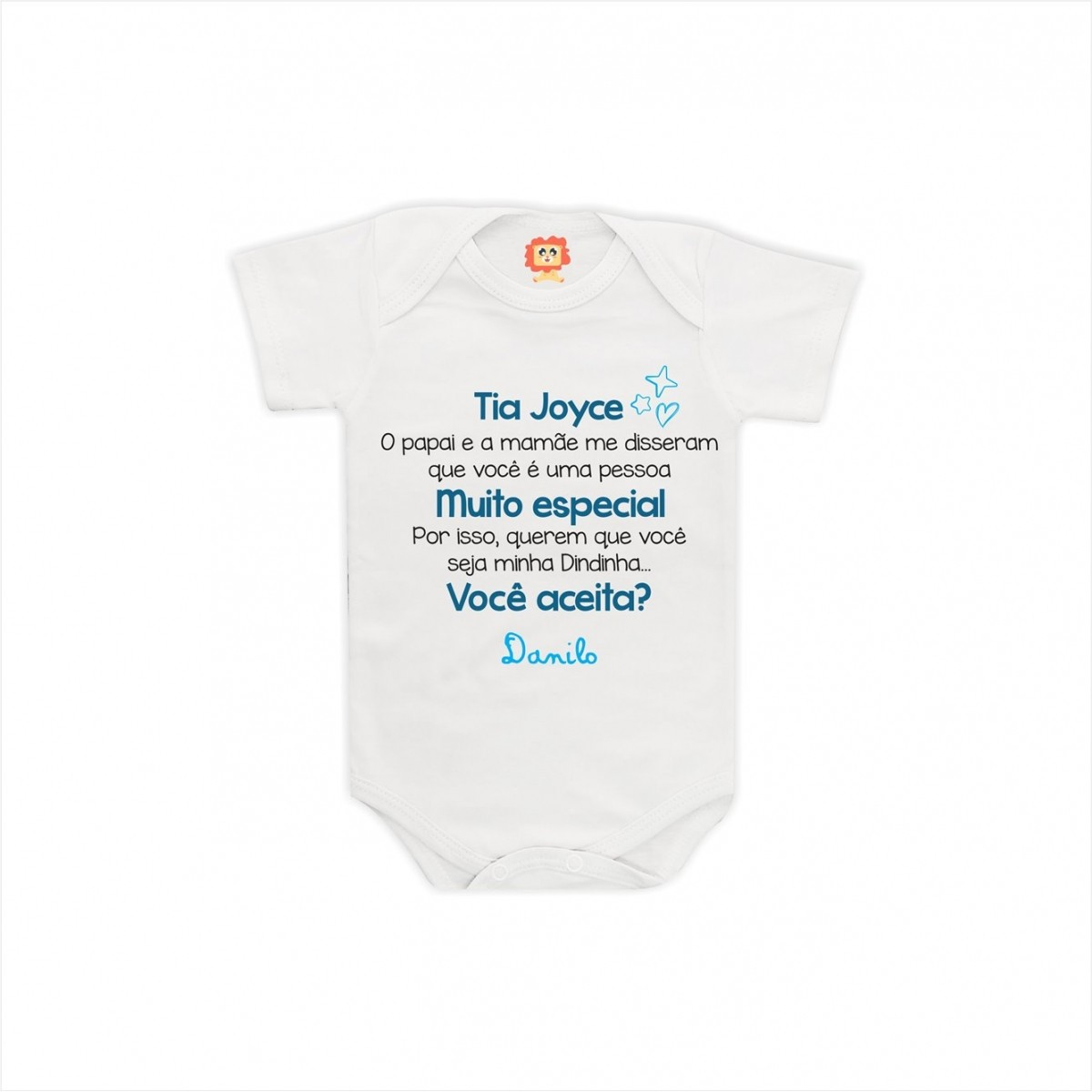 Body de Bebê Convite de Dinda
