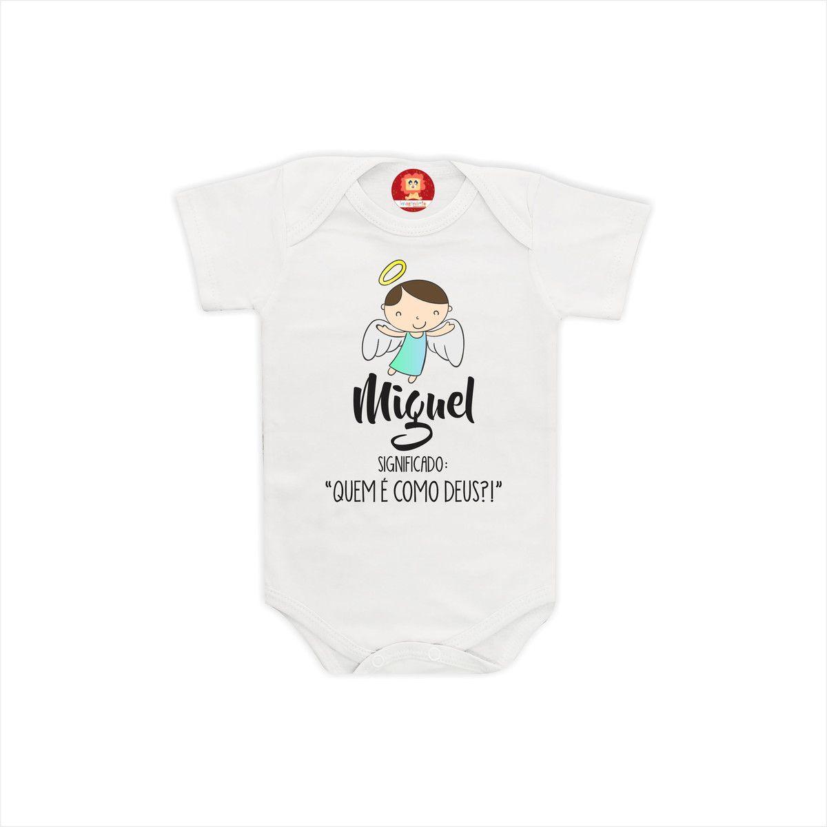 Body de Bebê Com Nome e Significado