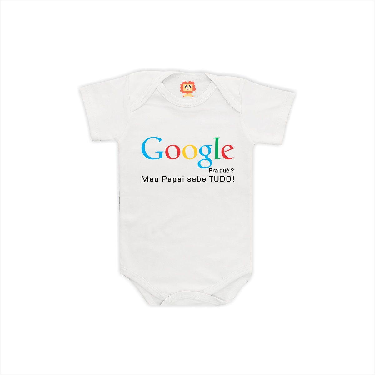 Body de Bebê Google Pra Quê?
