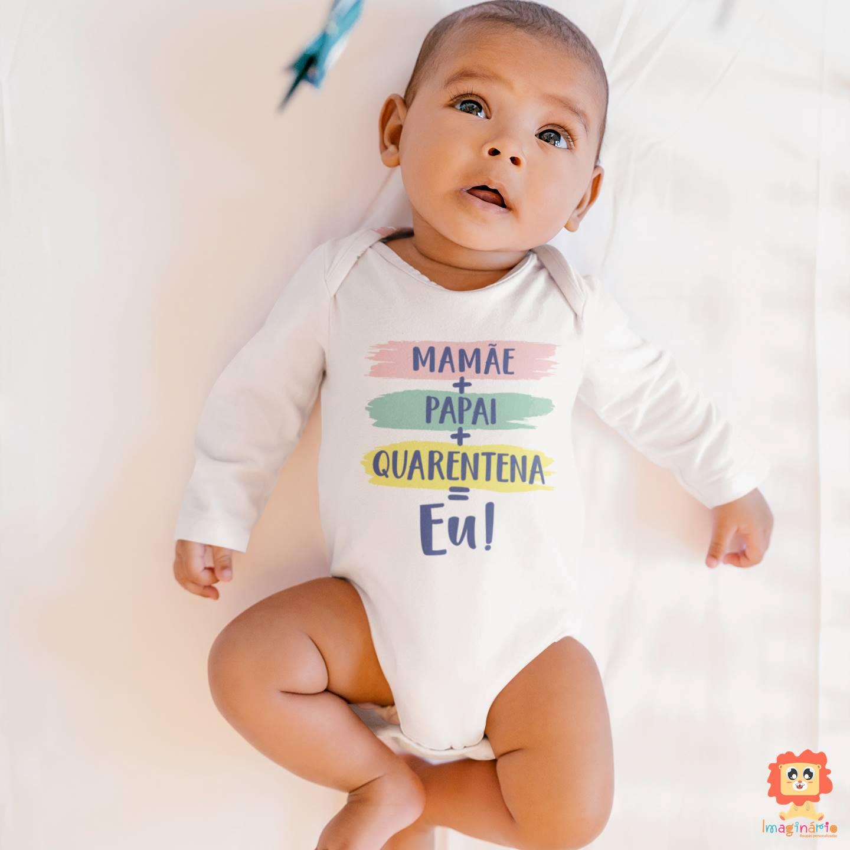 Body de Bebê Manga Longa Quarentena