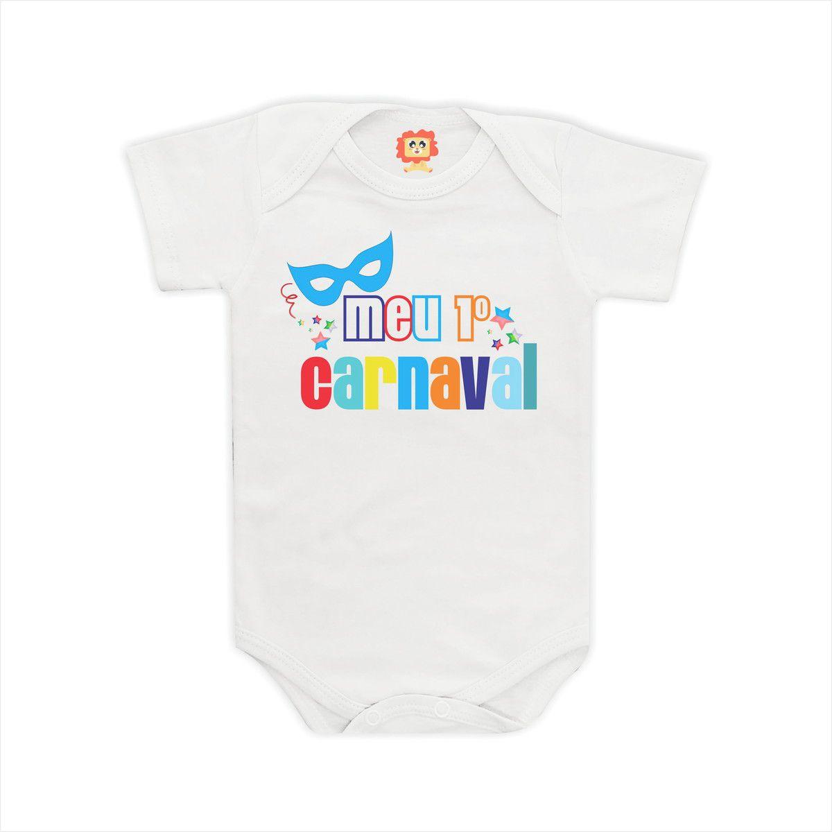 Body de Bebê Meu Primeiro Carnaval Roupinha Menino