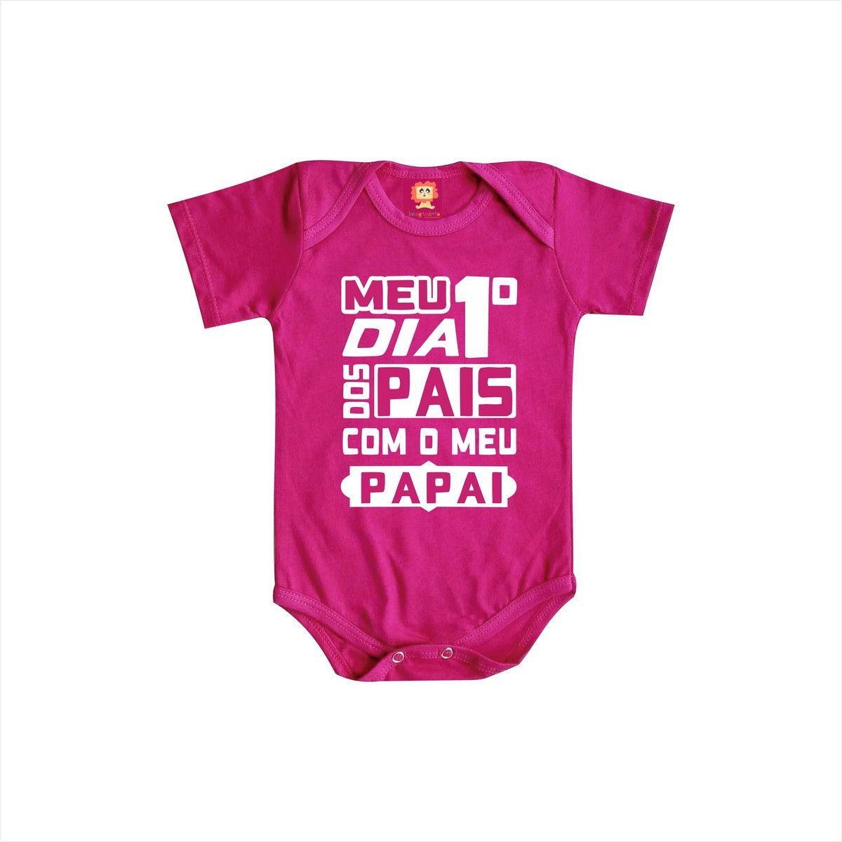 Body de Bebê Meu Primeiro Dia dos Pais