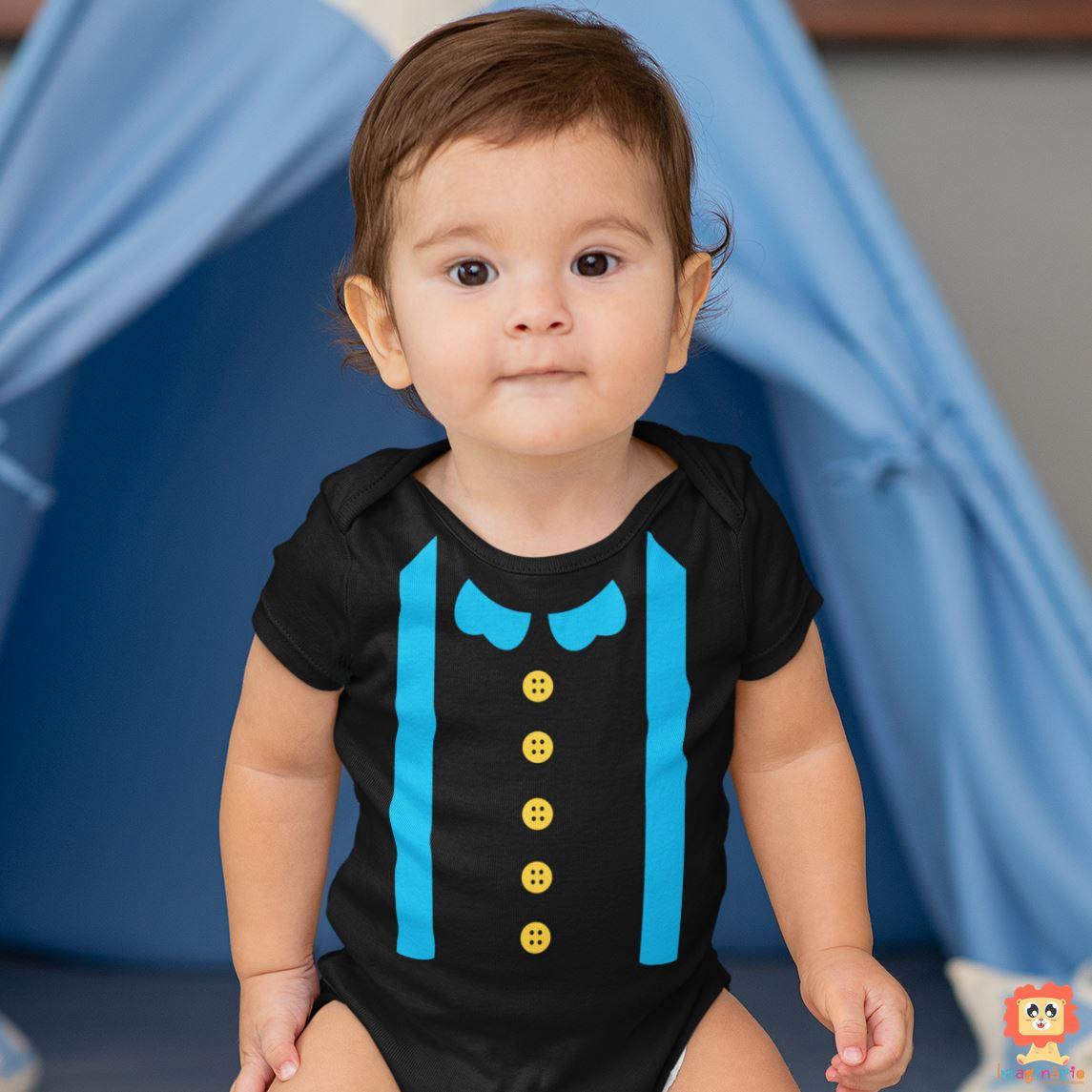 Body de Bebê ou Camiseta Bita Azul Fantasia