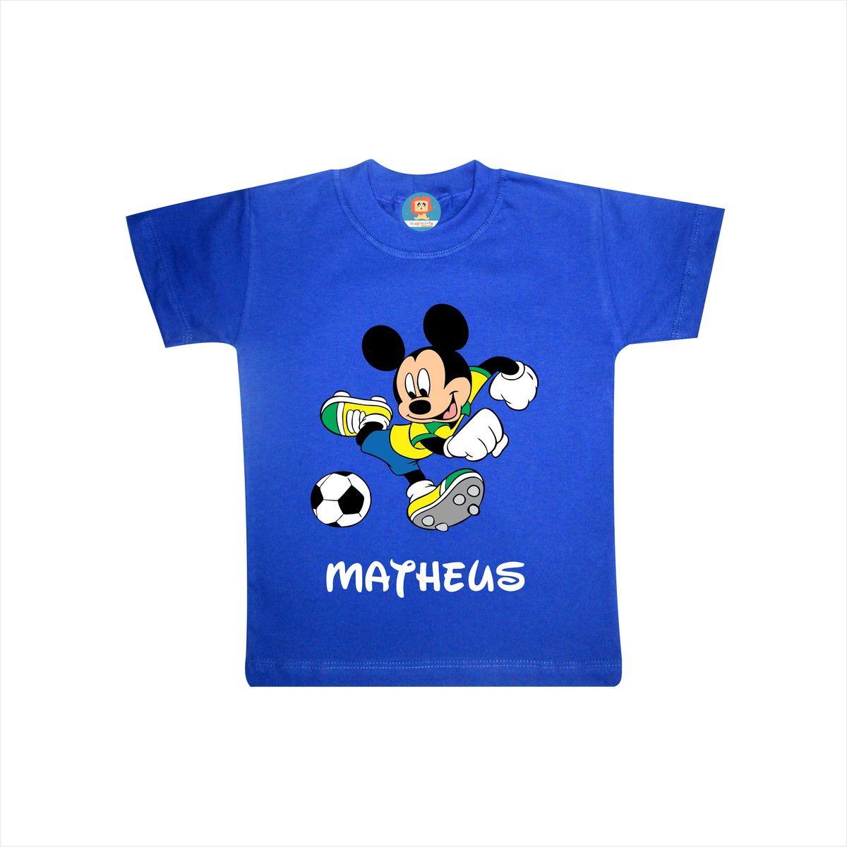 Body de Bebê ou Camiseta Mickey Copa do Mundo Brasil