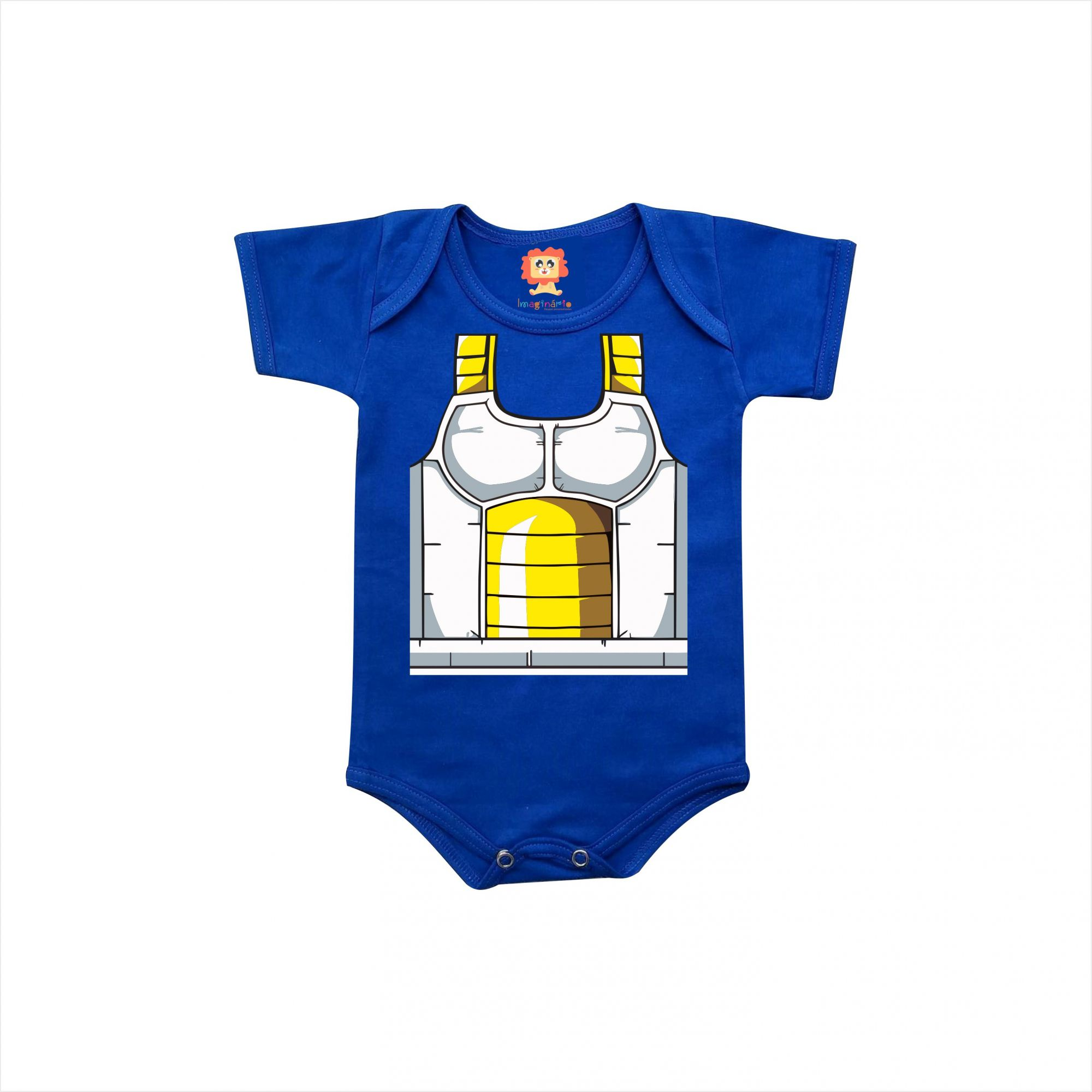 Body De Bebê Ou Camiseta Dragon Ball Vegeta Geek Baby  Fantasia