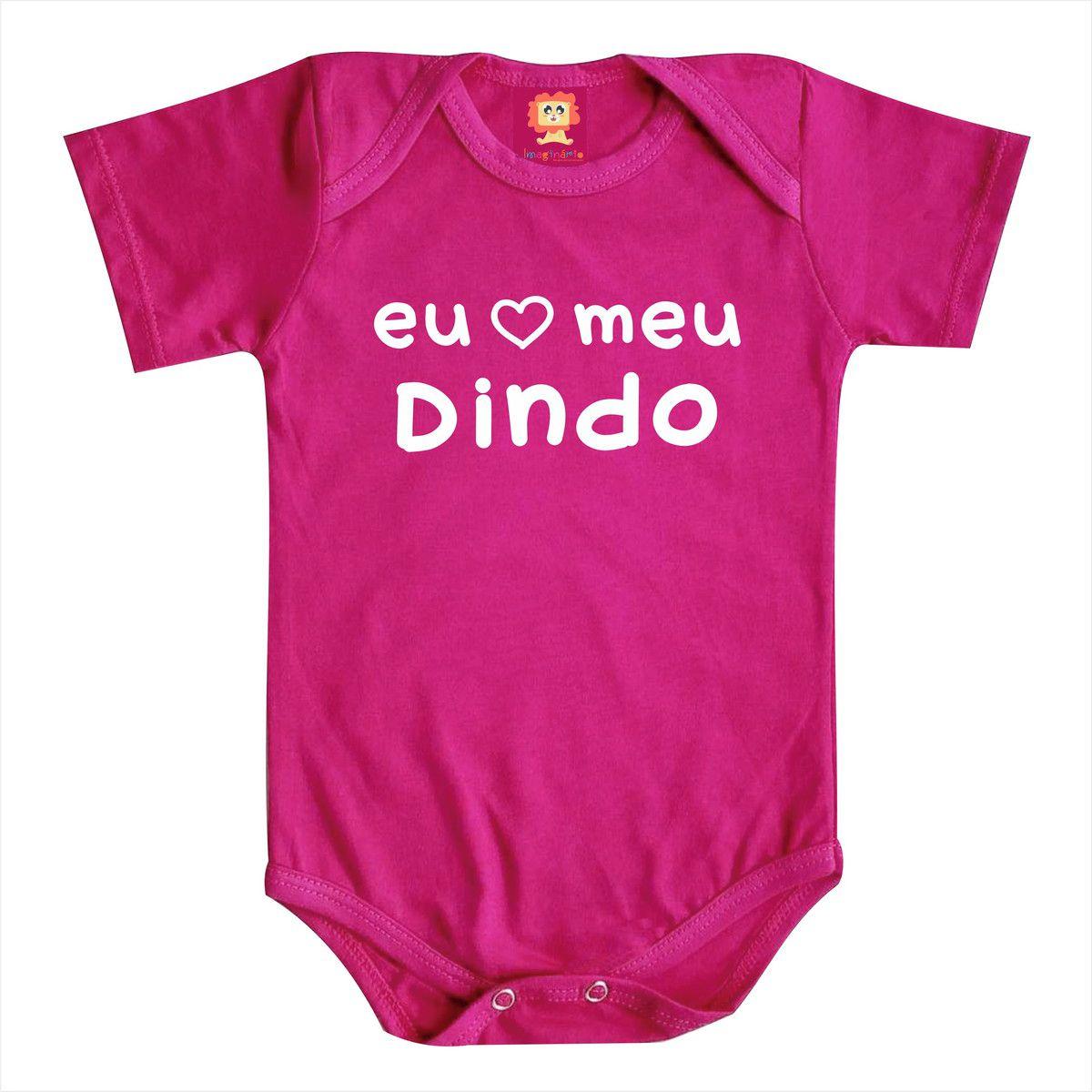 Body de Bebê ou Camiseta Eu Amo Meu Dindo