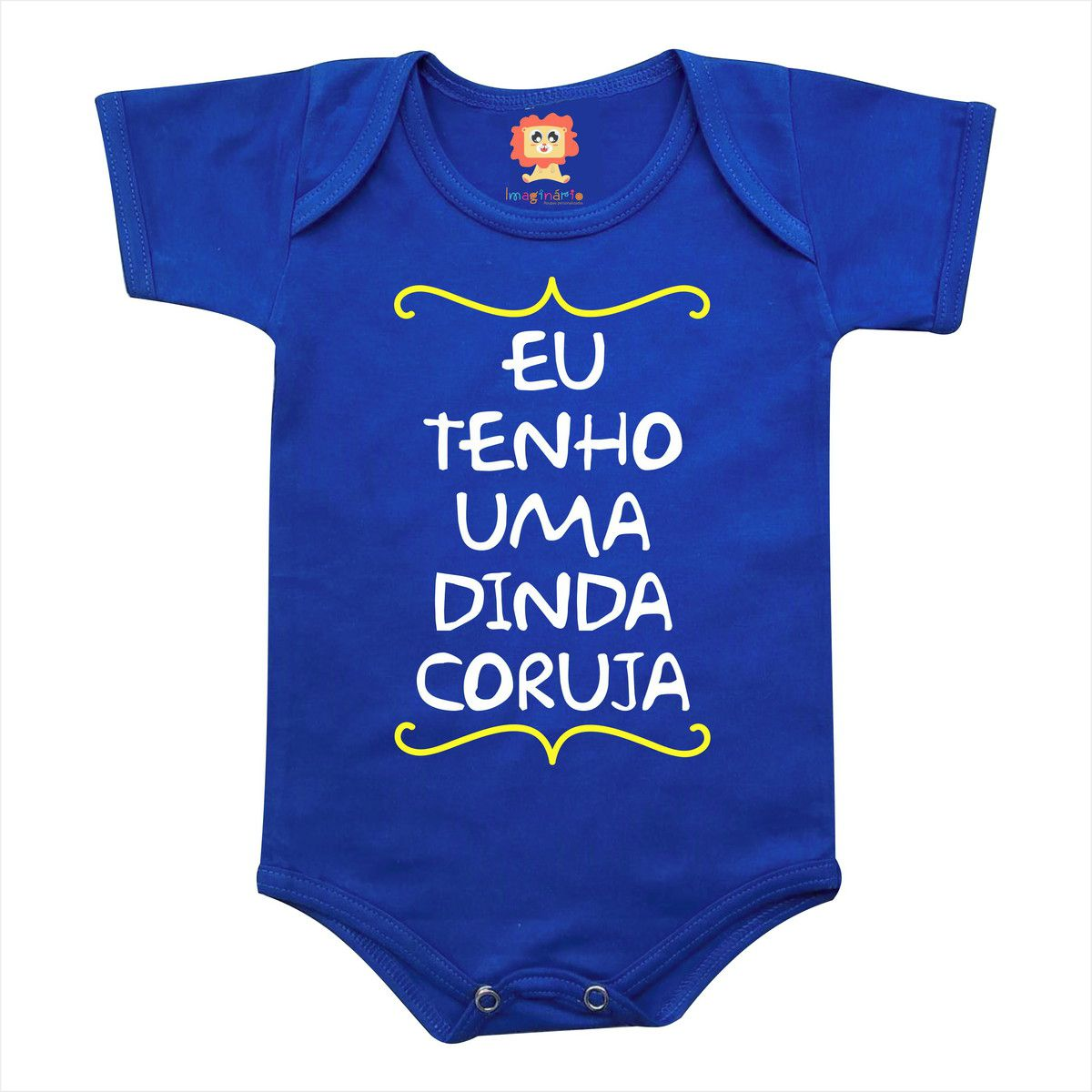 Body de Bebê ou Camiseta Eu Tenho Uma Dinda Coruja