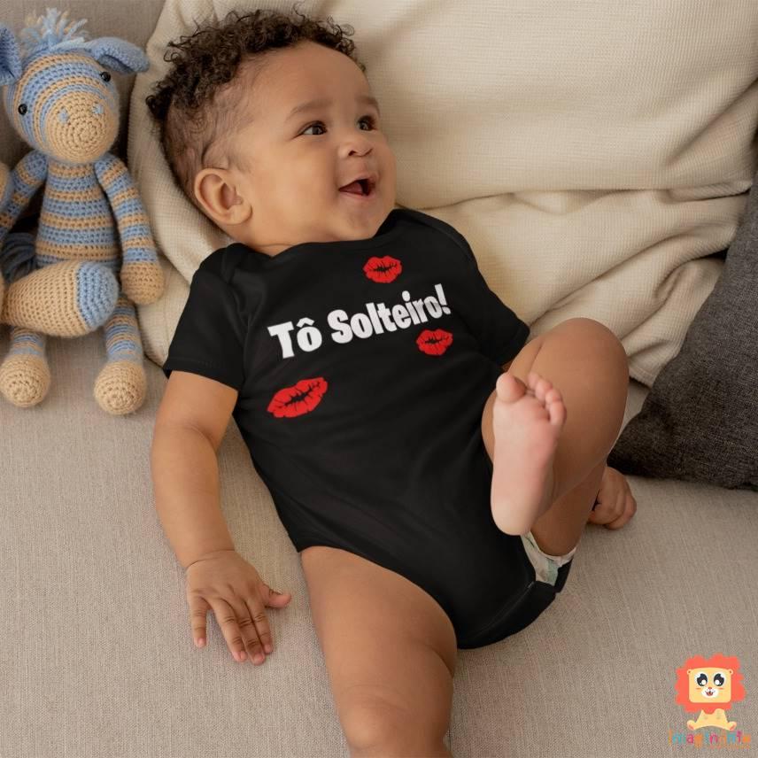 Body de Bebê Ou Camiseta Infantil Tô Solteiro