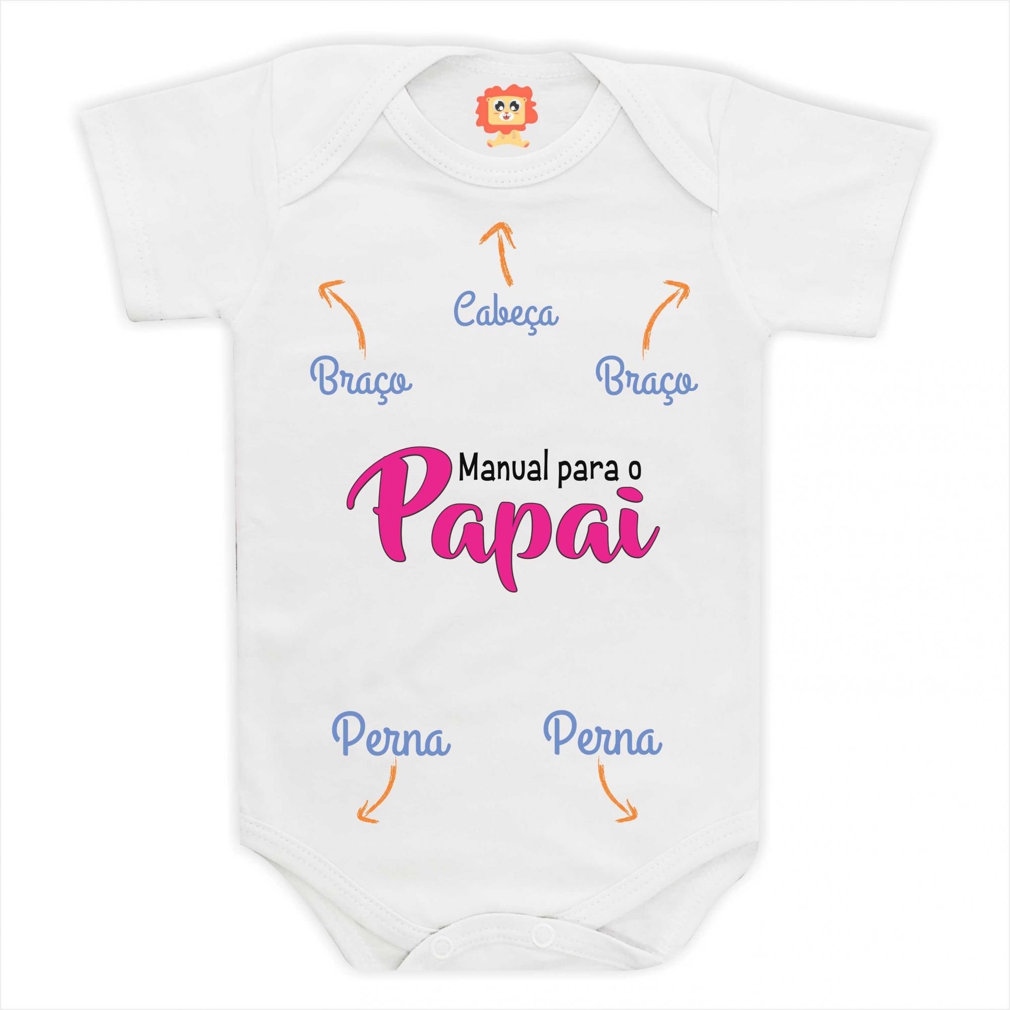 Body de Bebê ou Camiseta Manual para o Papai