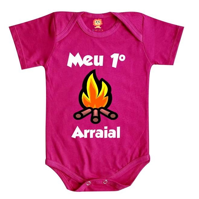 Body de Bebê ou Camiseta Meu Primeiro Arraial