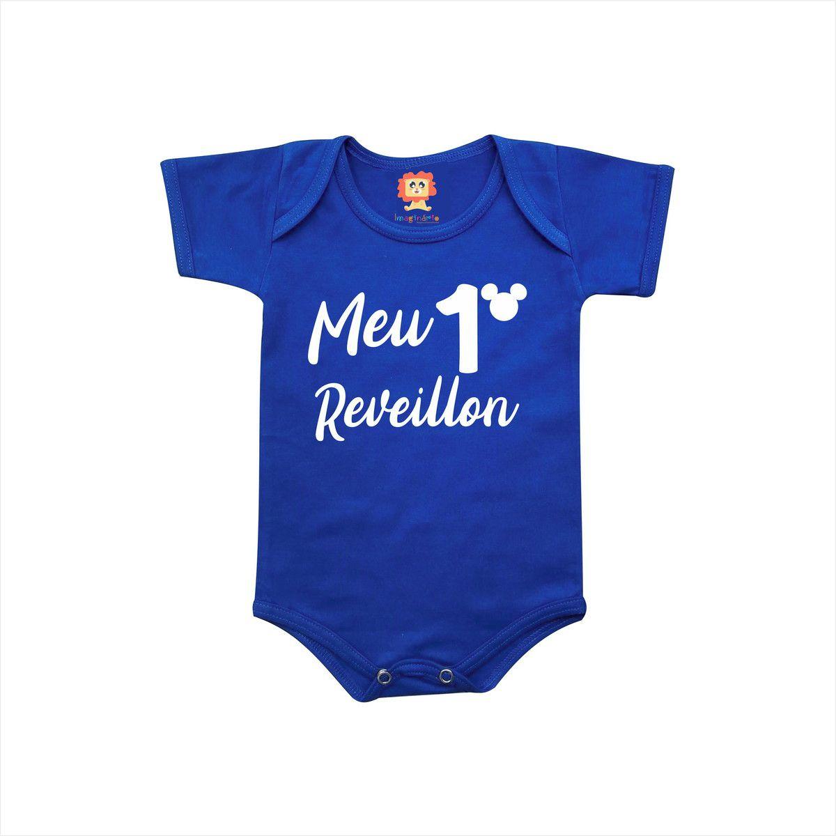 Body de Bebê ou Camiseta Meu Primeiro Reveillon