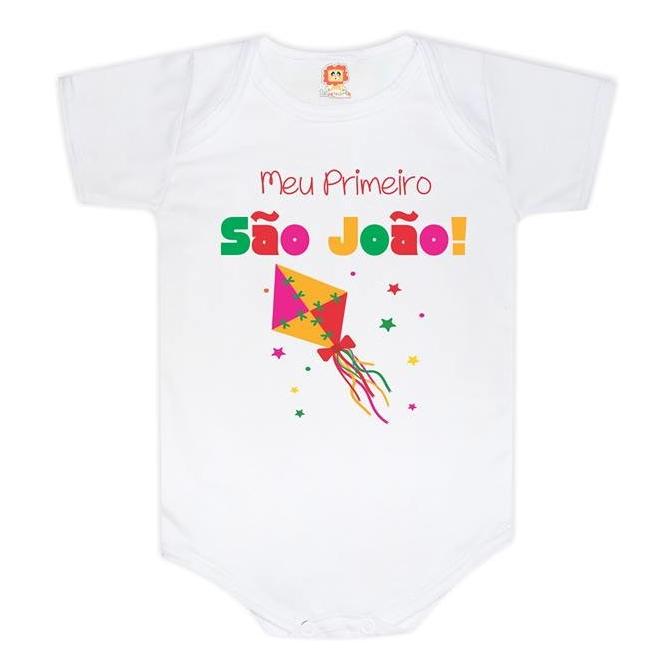 Body de Bebê ou Camiseta Meu Primeiro São João