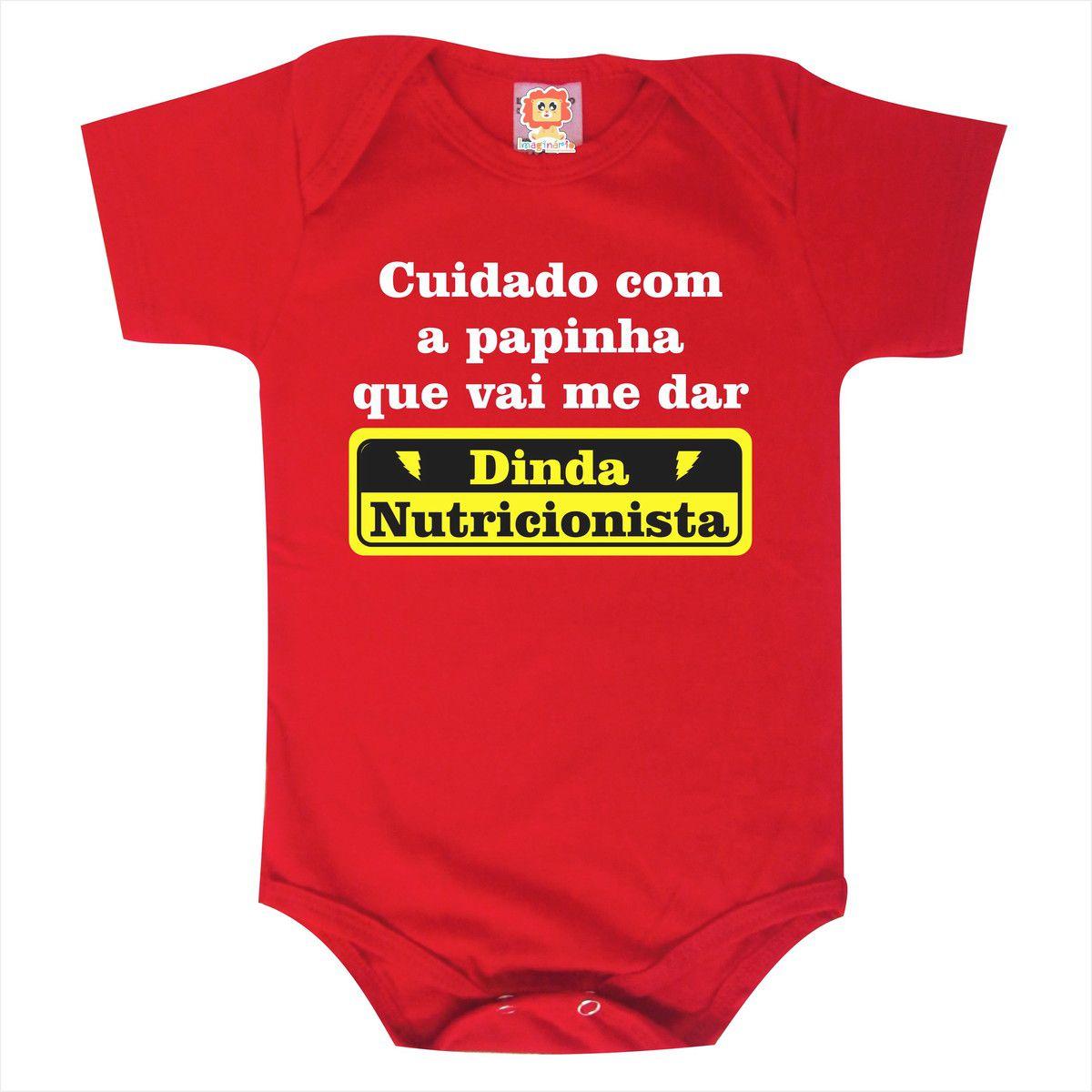 Body de Bebê ou Camiseta Minha Dinda é Nutricionista