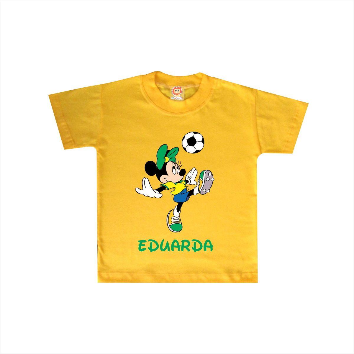 Body de Bebê ou Camiseta Minnei Copa do Mundo Brasil