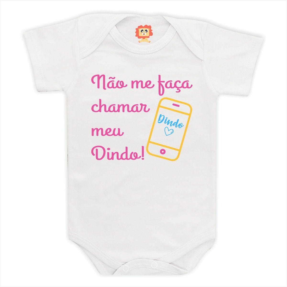 Body de Bebê ou Camiseta Não Me Faça Chamar Meu Dindo