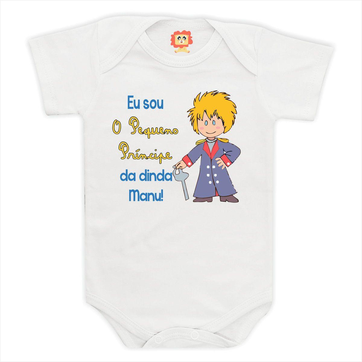 Body de Bebê ou Camiseta Pequeno Príncipe da Dinda